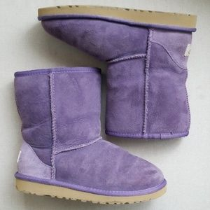 Uggs boots purple size 4 womens 6